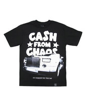 Dissizit Mens Black Cash from Chaos In Greed We Trust T-Shirt NWT image 2