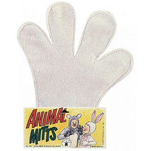 EASTER BUNNY  MITTS PAWS COSTUME  COMFORT WHITE - $5.29 CAD