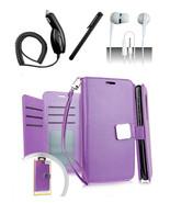 LG Q7 / Q7 Plus Blister Purple Flip Flap Pouch Magnetic Wallet Case Cover - $12.99