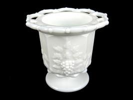"Milk Glass Jelly Spooner Jar, Westmoreland Paneled Grape Pattern, 4.5"", ... - $12.69"