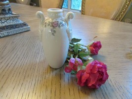 "LENOX BUD VASE FLORAL GRECIAN URN SHAPED 5""H IVORY W/GOLD MADE IN USA - $8.86"