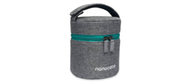Breastmilk baby bottle insulated cooler bag with ice pack teal/gray Nano... - $8.30
