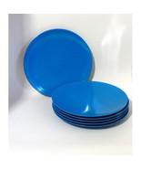 Set Blue Dinner Plates 6 Piece Melamine 10.5 inch break resistant NWT  - $19.95