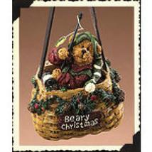 "Boyds Moosetroop ""Beary Christmas""  Creel Basket Ornament* #25451- NIB- 2005 - $29.99"