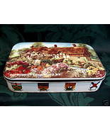 ANN HATHAWAY'S COTTAGE Cookie Tin VICTORIA BC. Souvenir CANADA FLAGS Vin... - $12.95