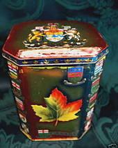 Vintage RILEYS TOFFEE Tin Canada Souvenir Tin CANADA Maple Leaf EMBLEMS - $14.95