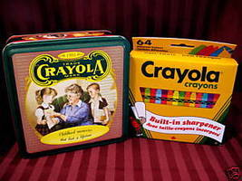 Crayola 1994 Vintage Crayons Tin With 64 Crayons Souvenir Keepsake New Nib - $14.95