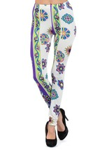 Naomi Geometric Design Printed Fashion Legging - $15.99
