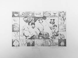 """Charles Bragg """"Gluttony"""" - S/N Etching - Retail $800 - COA - See Live at... - $200.00"""