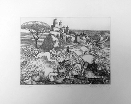 """Charles Bragg """"Camelot"""" - S/N Etching - Retail $1.2K - COA - See Live at... - $250.00"""