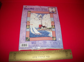 Bucilla Craft Kit Art Lighthouse Seascape Counted Cross Stitch Tapestry ... - $23.74