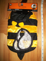Pet Holiday Dog Costume XS Bumble Bee Halloween Outfit Bug Canine Animal Hoodie - $7.59