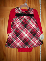 Carter Baby Clothes 3M-6M Newborn Girl Creeper Outfit Bow Red Plaid Jump... - $16.14