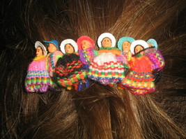 Girls Puppet Doll Hair Grip Alice Band Typical Peru  - $7.50