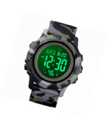 Men's Sports Watch Large Face Military Waterproof Wrist  Alarm LED Back ... - $37.99