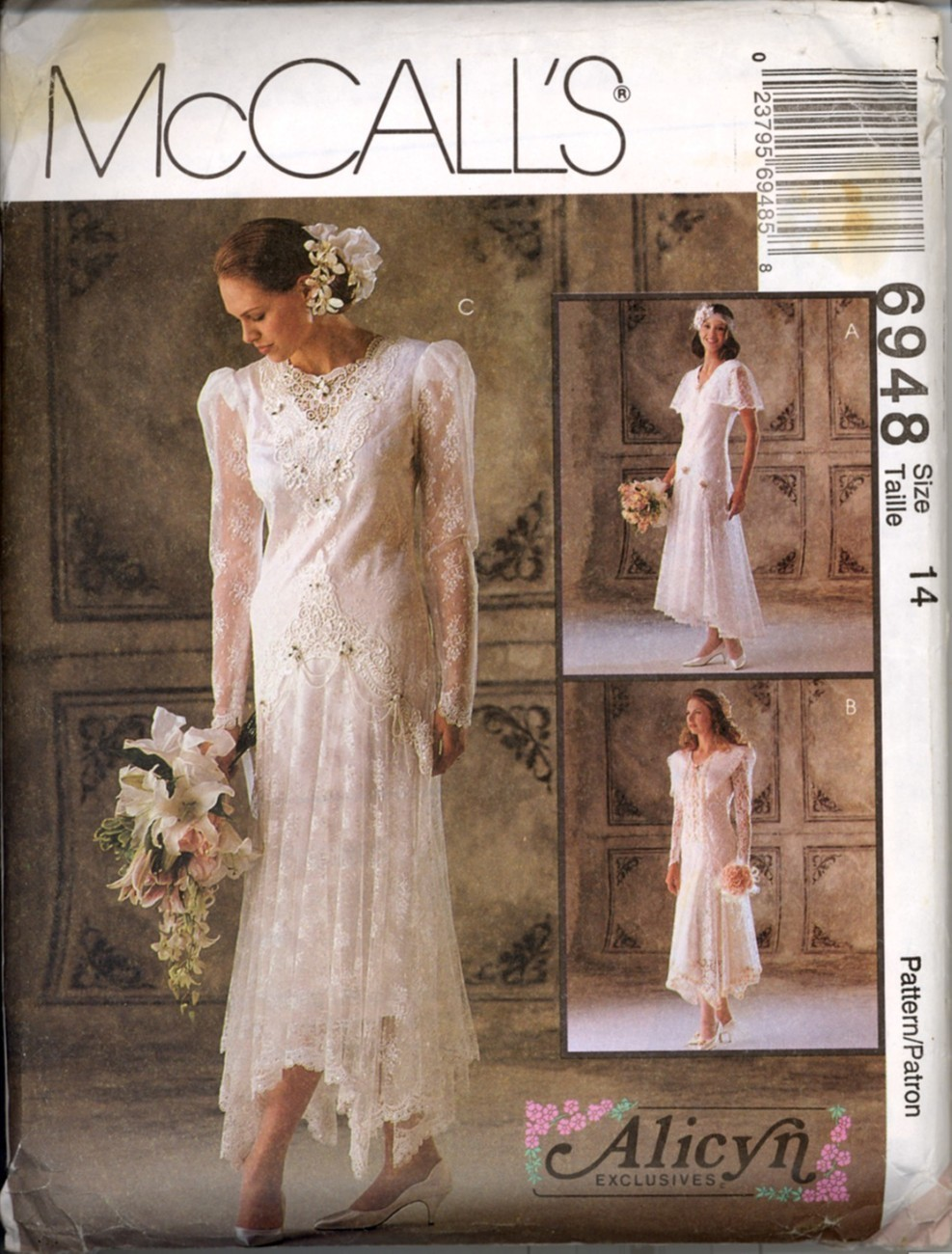 Uncut 1990s size 14 alicyn wedding gown bridesmaid dress for How to ship a wedding dress usps
