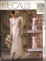 Uncut 1990s Size 14 Alicyn Wedding Gown Bridesmaid Dress McCalls 6948 Pa... - $12.99