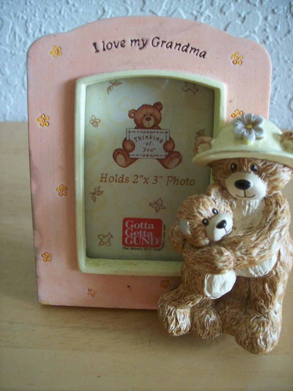 "Gund ""I Love My Grandma"" Teddy Bear Picture Frame"