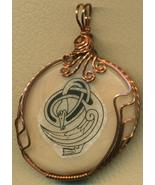 Celtic Goose Design Copper Wire Wrap Clay Pendant 13 - $23.86
