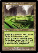 Magic The Gathering-Odyssey-Centaur Garden - $0.25