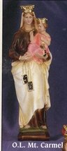 Our lady of mount carmel 12 inch statue thumb200