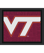 "Virginia Tech University ""College Logo Plus Word Clouds"" - 15 x 18 Frame... - $49.95"