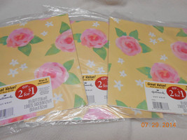 NEW LOT 3 PACKS PRETTY FLOWER HALLMARK GIFT WRA... - $5.45