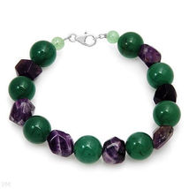 Genuine Amethyst and Aventurine Made of 925 Silver - $32.05