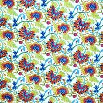 Chanderi Silk Hand painted Hand Block Printed Multi Color Floral brand n... - $44.99
