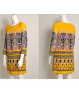 NEW J CREW retail Jules silk Dress yellow musta... - $155.00
