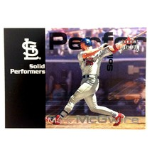 Mark McGwire 2001 Fleer Premium Solid Performers Insert Card Cardinals - $5.89