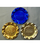 LOT OF 3 FAST FOOD RESTAURANT ASHTRAYS - NATHAN'S HARDEE'S & JACK IN THE... - $5.99