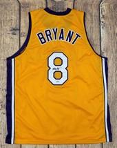 KOBE BRYANT SIGNED PRO STYLE CUSTOM YELLOW JERSEY PSA/DNA AUTHENTICATED - $395.01