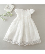 Caped Sleeve Ivory Lace Pricess Flower Girl Dress With Bow 2018 Formal K... - $31.88