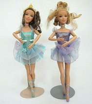 """Barbie Ballerina Doll with Base Purple 10"""" Mattel 2005 Jointed Arms - $15.04"""
