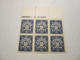 US POSTAGE LOT PS6  MNH PLATE NUMBER BLOCK OF SIX - 1911-36 .10c BLUE ve... - $69.29