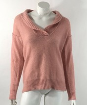 J Crew Dolce Shawl Collar Popover Sweater Size Medium Peach Pink Mohair ... - $25.24