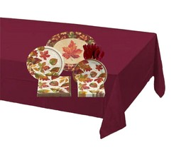 81-piece Colors of the Wind Thanksgiving Tableware Kit – Burgundy - $26.68