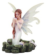 """Ebros Lavender Fairy Lady of The Lake Statue 6"""" Tall Water Elemental Fairy Figur - $27.99"""