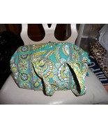 Vera Bradley small duffel style handbag in retired Peacock - $24.50
