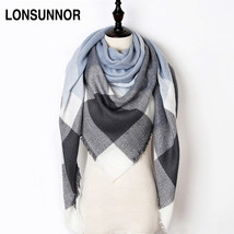 New Fashion Winter Scarf Women 2017 Triangle Warm Plaid Scarf Luxury Bra... - $10.90