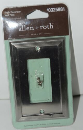 Allen Roth Market 0325981 Single Decorator Wall Plate with Mounting Hardware