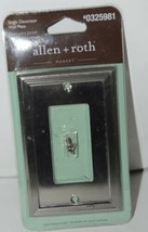 Allen Roth Market 0325981 Single Decorator Wall Plate with Mounting Hardware image 1