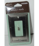 Allen Roth Market 0325981 Single Decorator Wall Plate with Mounting Hard... - $7.97