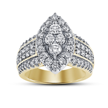 14k Yellow Gold Over 925 Sterling Silver Womens Wedding Diamond Engageme... - £67.81 GBP