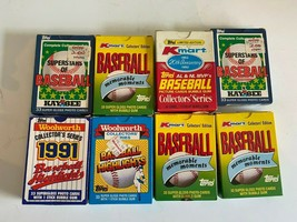 Lot of 8 Open Parts Baseball Cards Pieces 80's 90's Topps Estate Find - $14.78