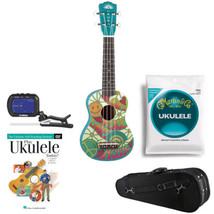 Luna Aurora Soprano Ukulele, Peace+ Knox Uke Case +Tuner +Uke DVD +Uke S... - $122.99