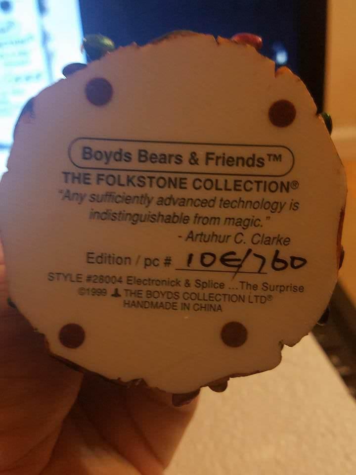 "Boyds Folkstone  ""Electronck & Splice.. The Surprise"" #28004* 1E* NIB* Retired image 3"