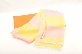 HERMES Scarf 100% Silk Yellow Auth 10757 - $180.00