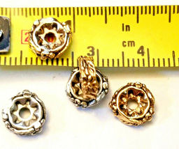 2 - Floral Spacer Fine Pewter Beads image 4